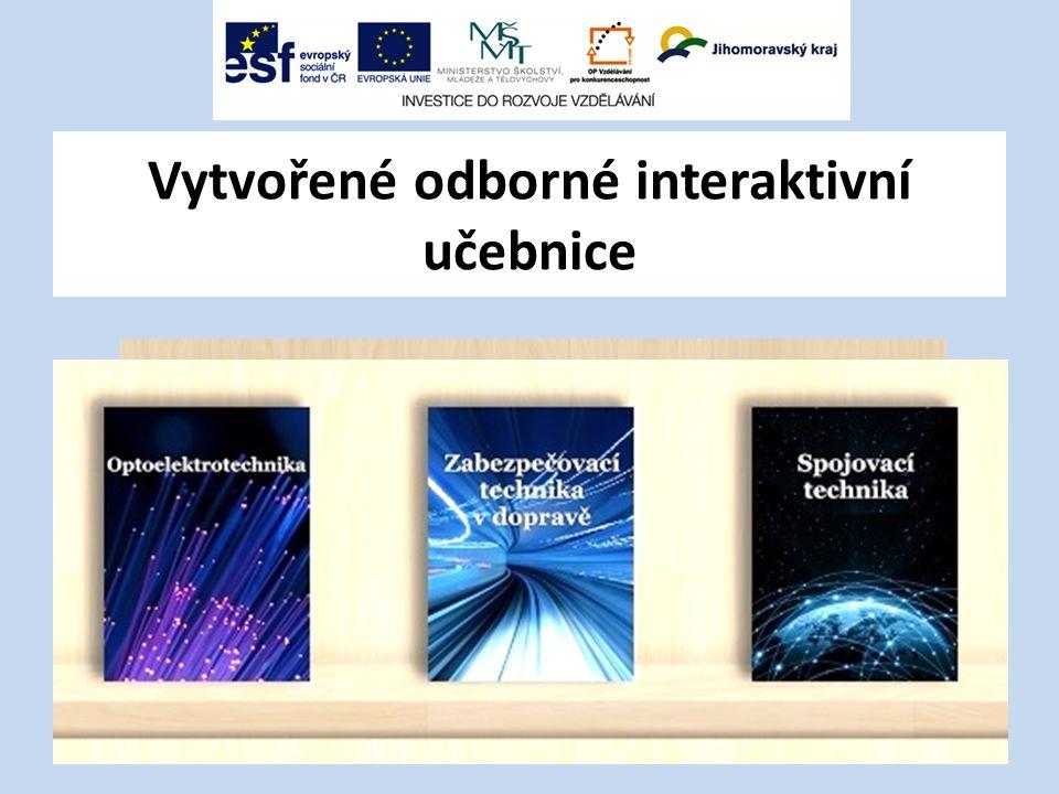 Vytvořené odborné interaktivní učebnice