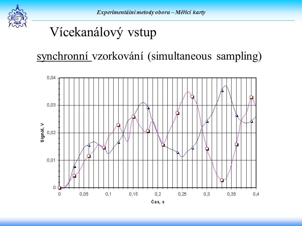 Experimentální metody oboru – Měřicí karty Vícekanálový vstup synchronní vzorkování (simultaneous sampling)