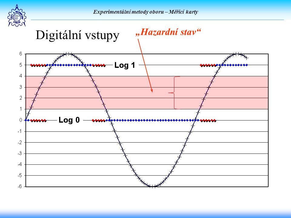 """Experimentální metody oboru – Měřicí karty Digitální vstupy """"Hazardní stav"""