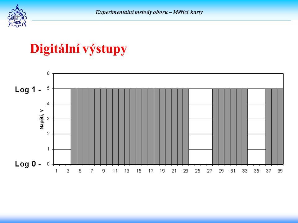 Experimentální metody oboru – Měřicí karty Digitální výstupy