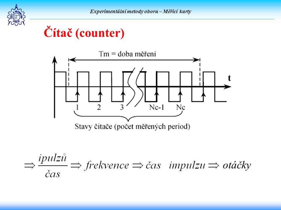 Experimentální metody oboru – Měřicí karty Čítač (counter) otáčky