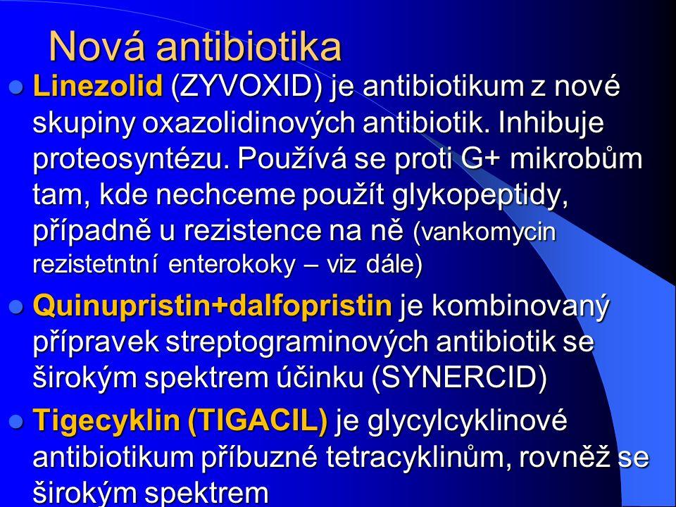 Nová antibiotika Linezolid (ZYVOXID) je antibiotikum z nové skupiny oxazolidinových antibiotik.
