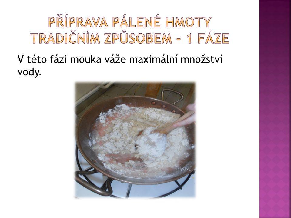 Dobře prohřátou mouku poznáme podle toho, že se odděluje od kotle a vařečky (nelepí se).