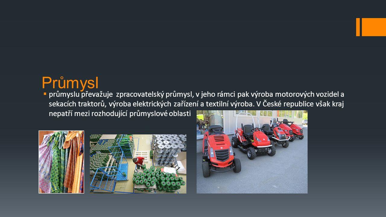 Průmysl  průmyslu převažuje zpracovatelský průmysl, v jeho rámci pak výroba motorových vozidel a sekacích traktorů, výroba elektrických zařízení a textilní výroba.