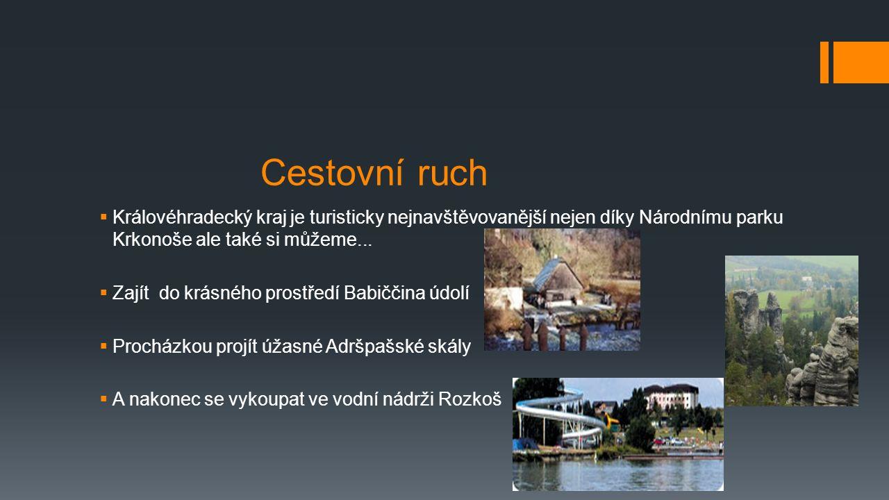 Cestovní ruch  Královéhradecký kraj je turisticky nejnavštěvovanější nejen díky Národnímu parku Krkonoše ale také si můžeme...