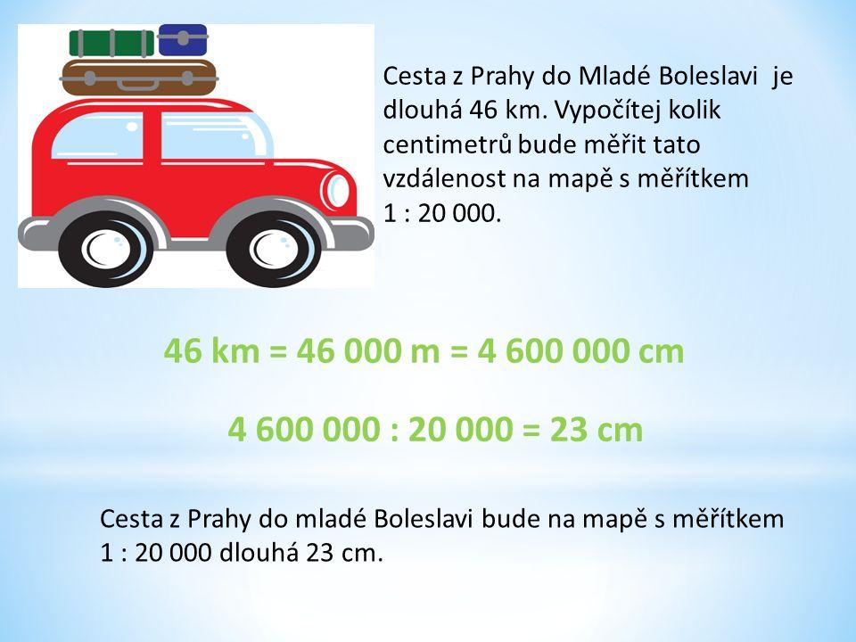 Cesta z Prahy do Mladé Boleslavi je dlouhá 46 km.