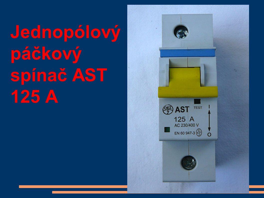 Jednopólový páčkový spínač AST 125 A