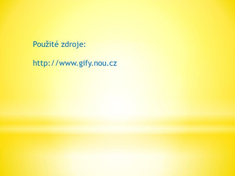 Použité zdroje: http://www.gify.nou.cz