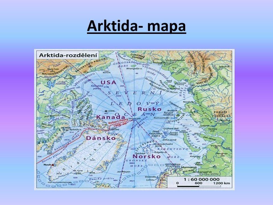 Arktida- mapa