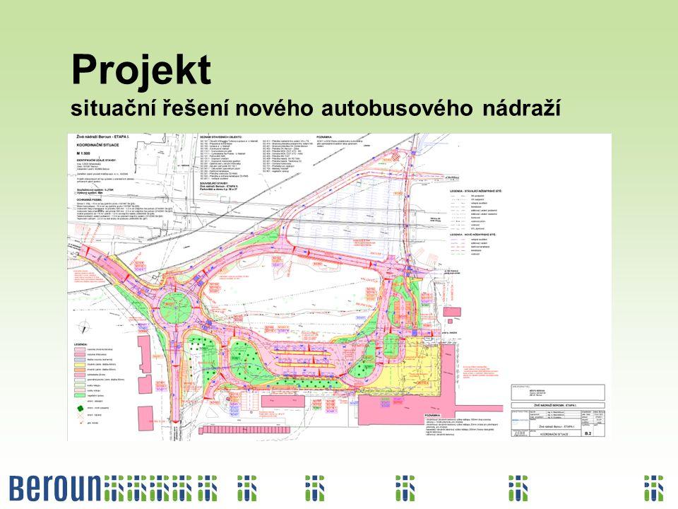Projekt situační řešení nového autobusového nádraží