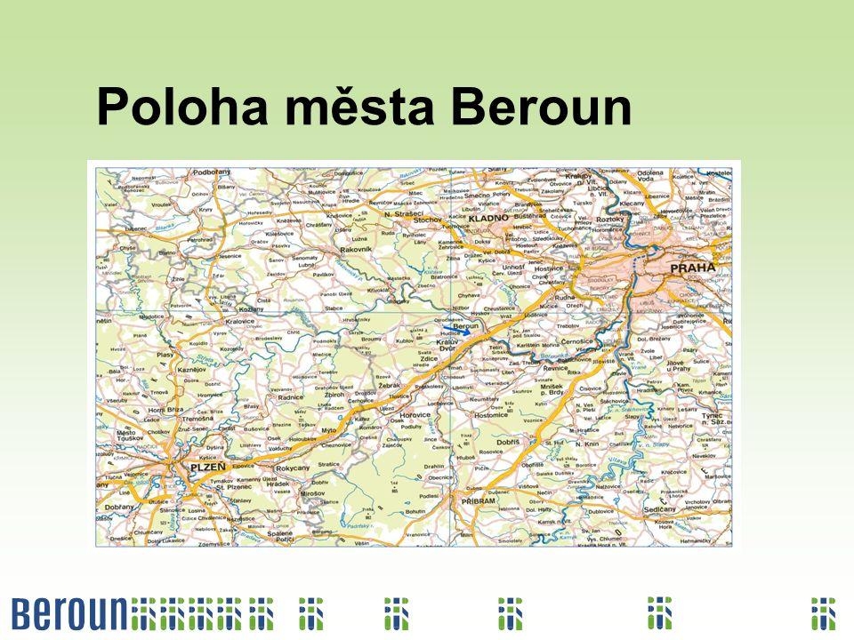 Poloha města Beroun