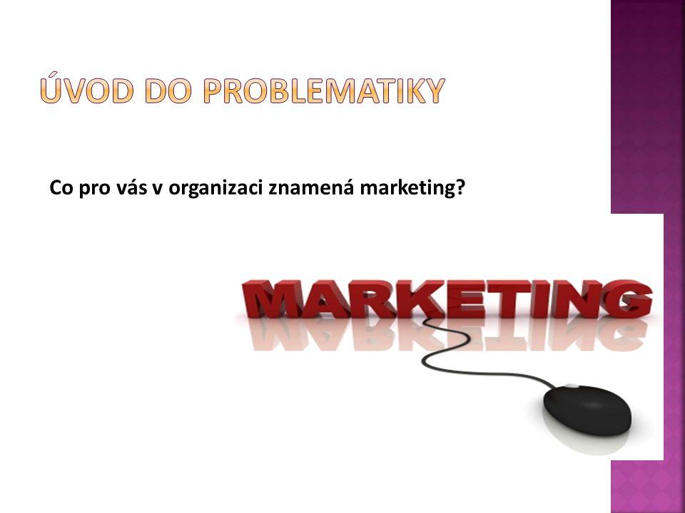 Co pro vás v organizaci znamená marketing?