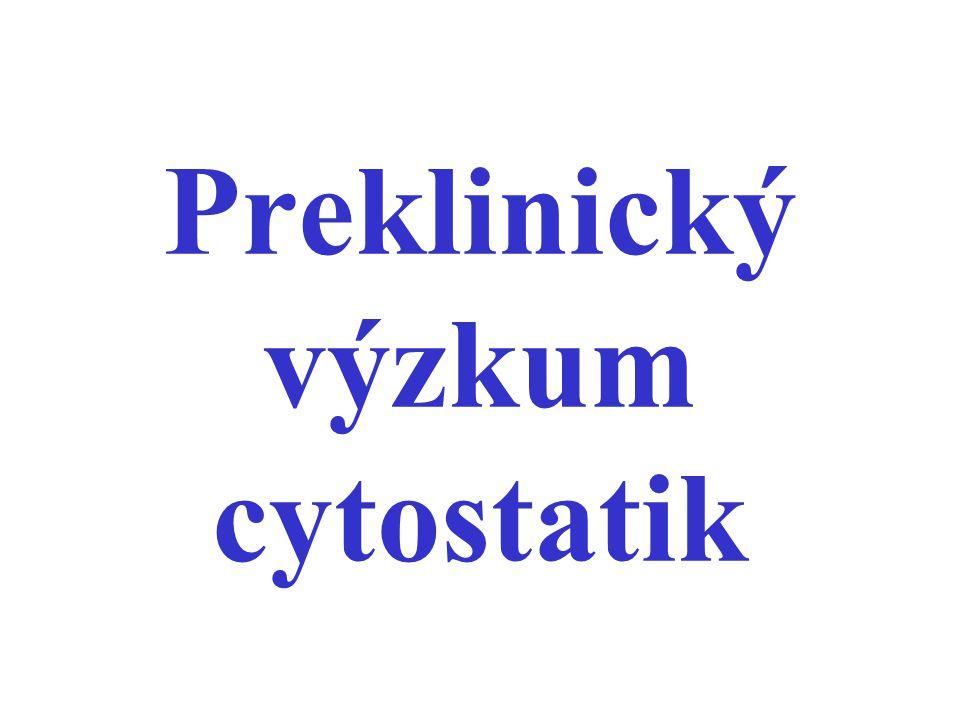 Preklinický výzkum cytostatik