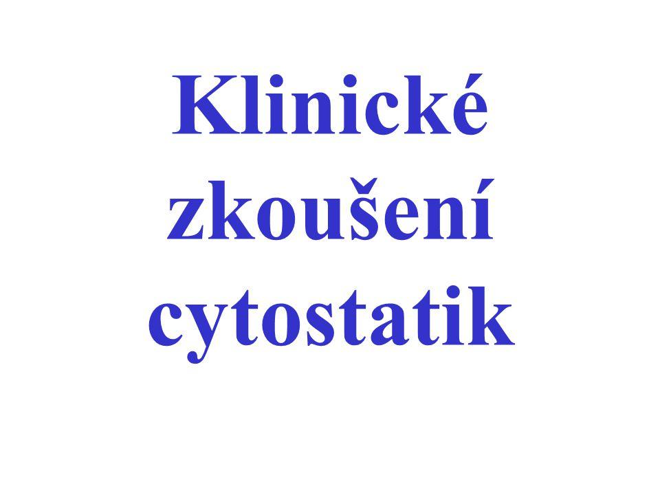 Klinické zkoušení cytostatik