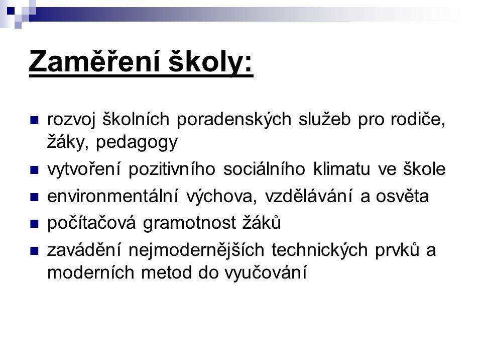 """Školní rok 2006/07  nový předmět """"Volba povolání v rámci pracovních činností v 8."""