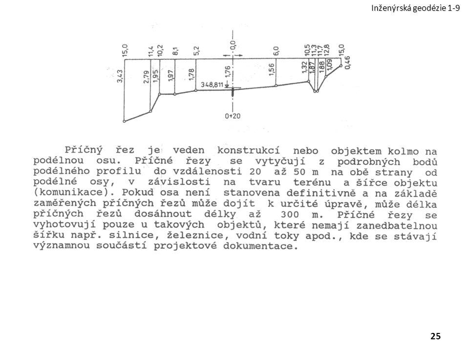 25 Inženýrská geodézie 1-9