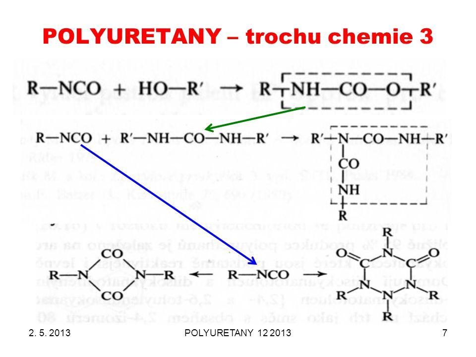 POLYURETANY – trochu chemie 3 2. 5. 2013POLYURETANY 12 20137