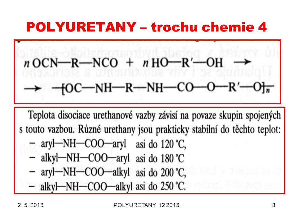 POLYURETANY – trochu chemie 4 2. 5. 2013POLYURETANY 12 20138