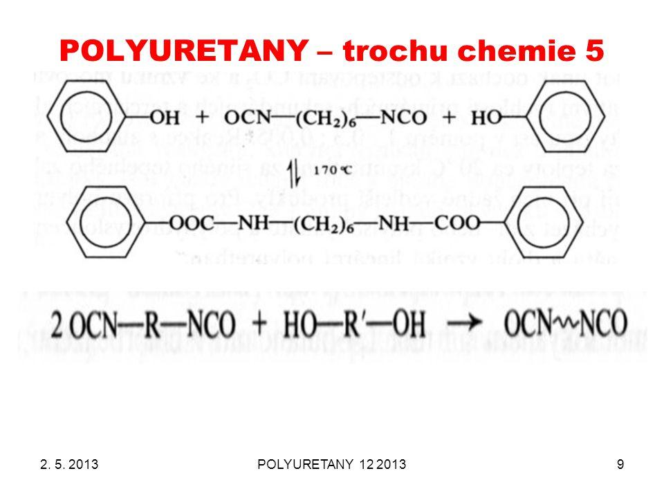POLYURETANY – trochu chemie 5 2. 5. 2013POLYURETANY 12 20139