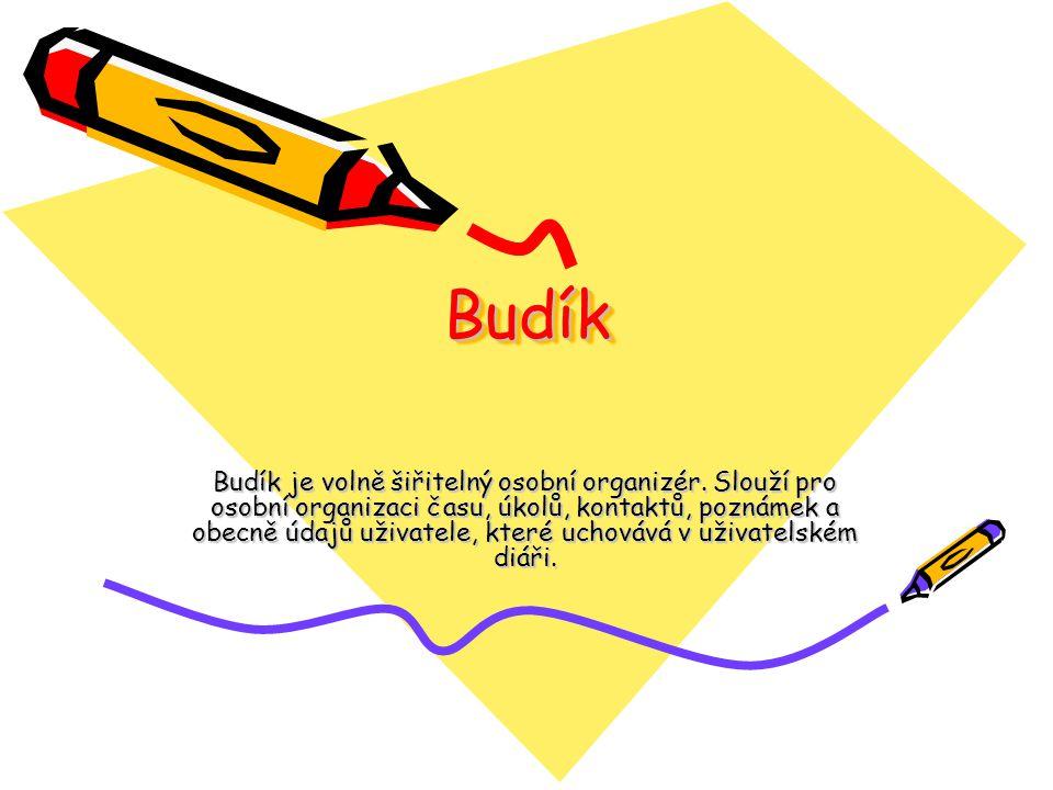 BudíkBudík Budík je volně šiřitelný osobní organizér.