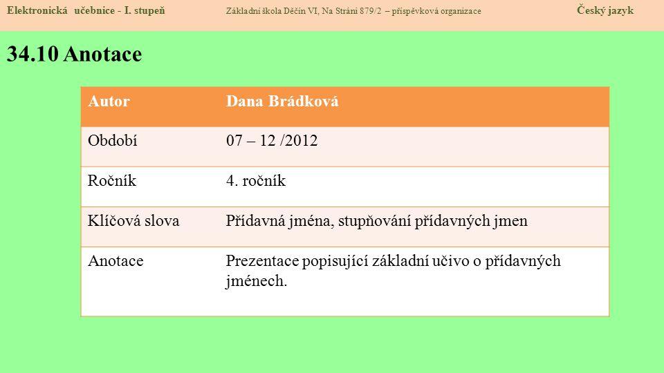 34.10 Anotace Elektronická učebnice - I.
