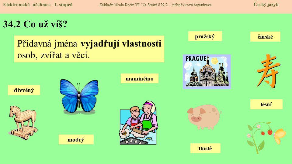 34.3 Jaké si řekneme nové termíny a názvy.Elektronická učebnice - I.