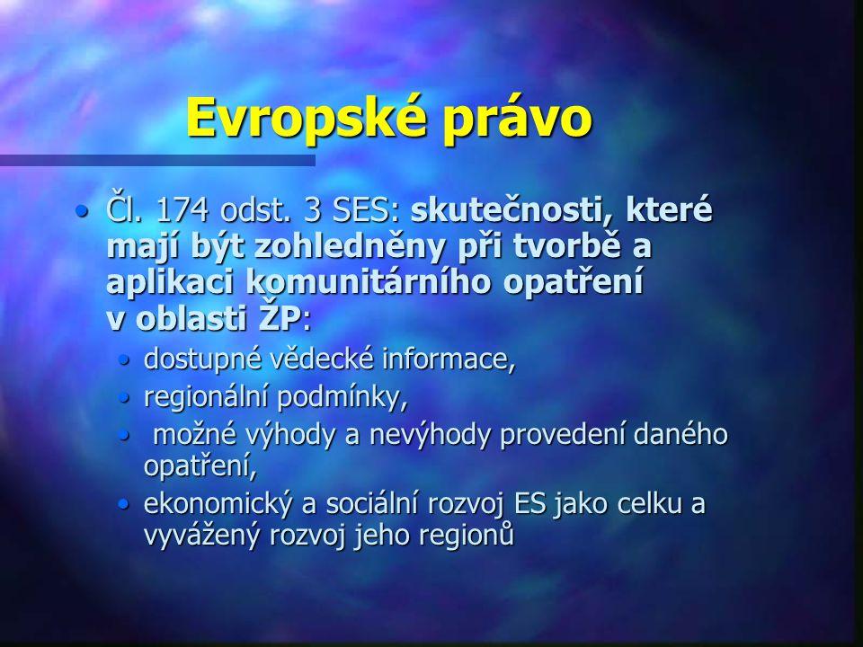 Evropské právo Čl.174 odst.