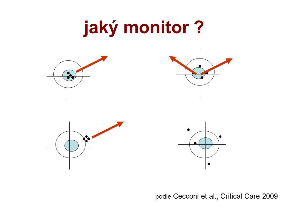 jaký monitor ? podle Cecconi et al., Critical Care 2009