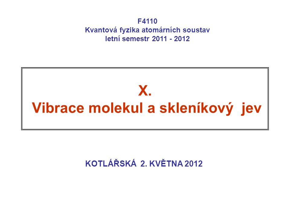 X. Vibrace molekul a skleníkový jev KOTLÁŘSKÁ 2.