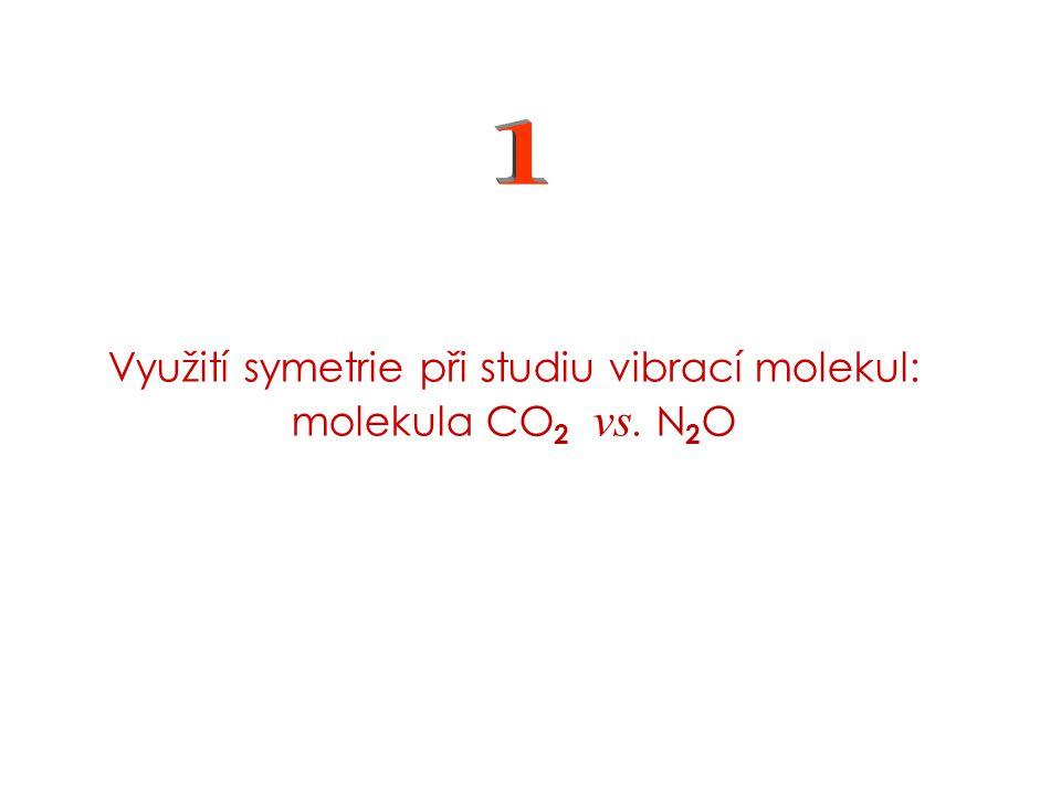 Využití symetrie při studiu vibrací molekul: molekula CO 2 vs. N 2 O -- příští cvičení