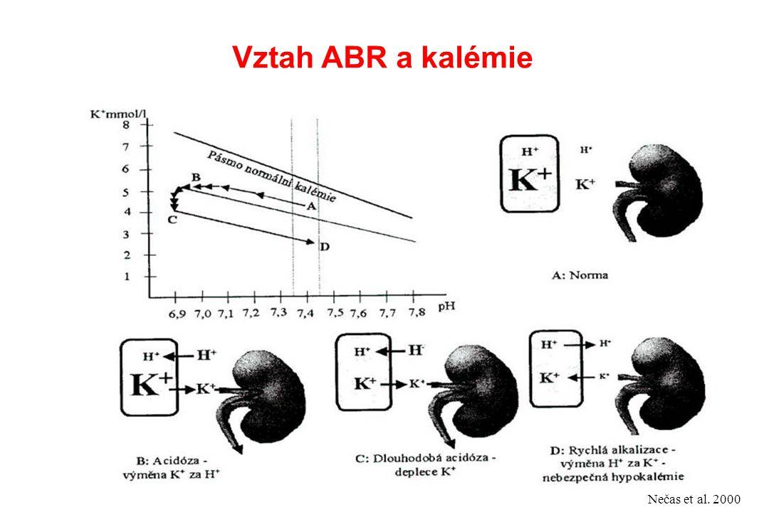Vztah ABR a kalémie Nečas et al. 2000