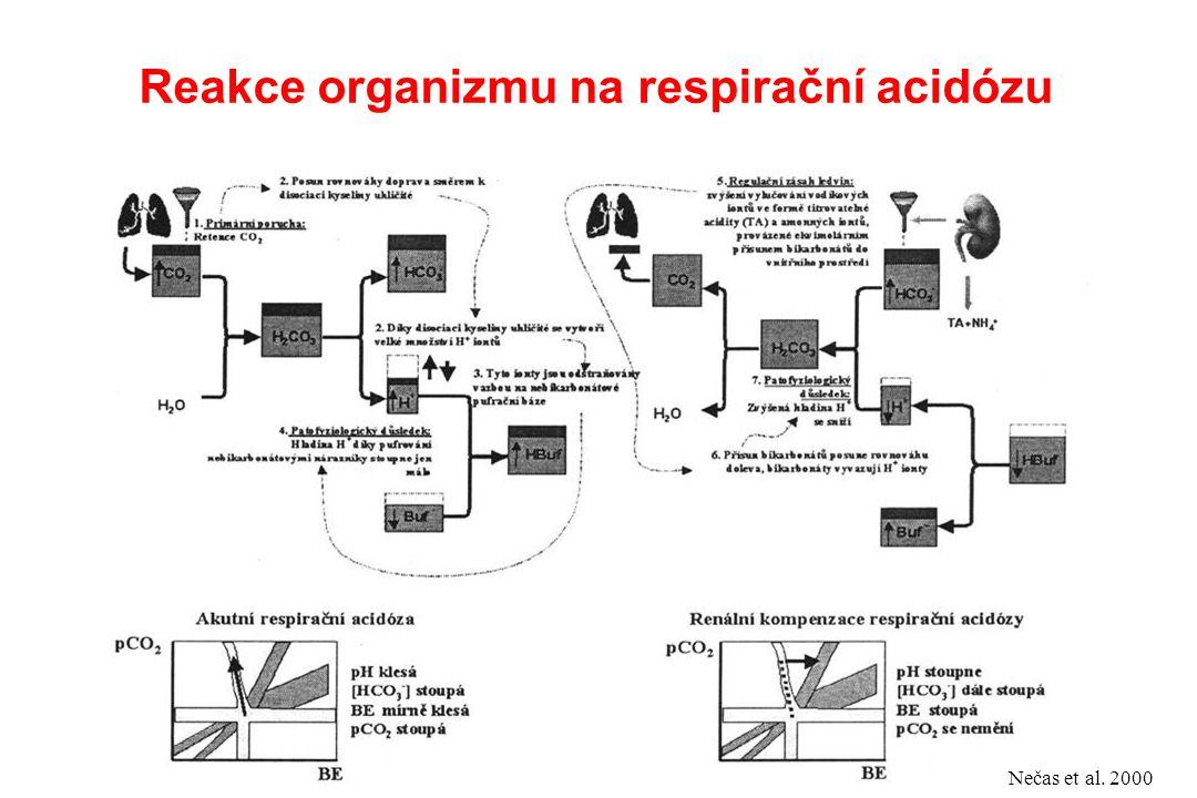 Reakce organizmu na respirační acidózu Nečas et al. 2000