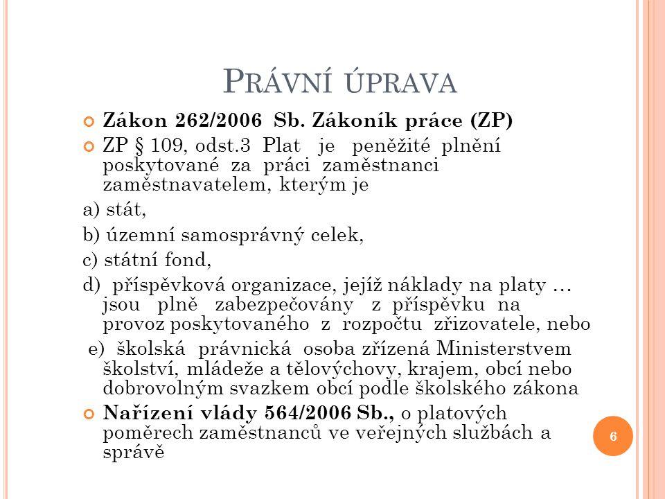 Zákon 262/2006 Sb., zákoník práce (ZP) 7