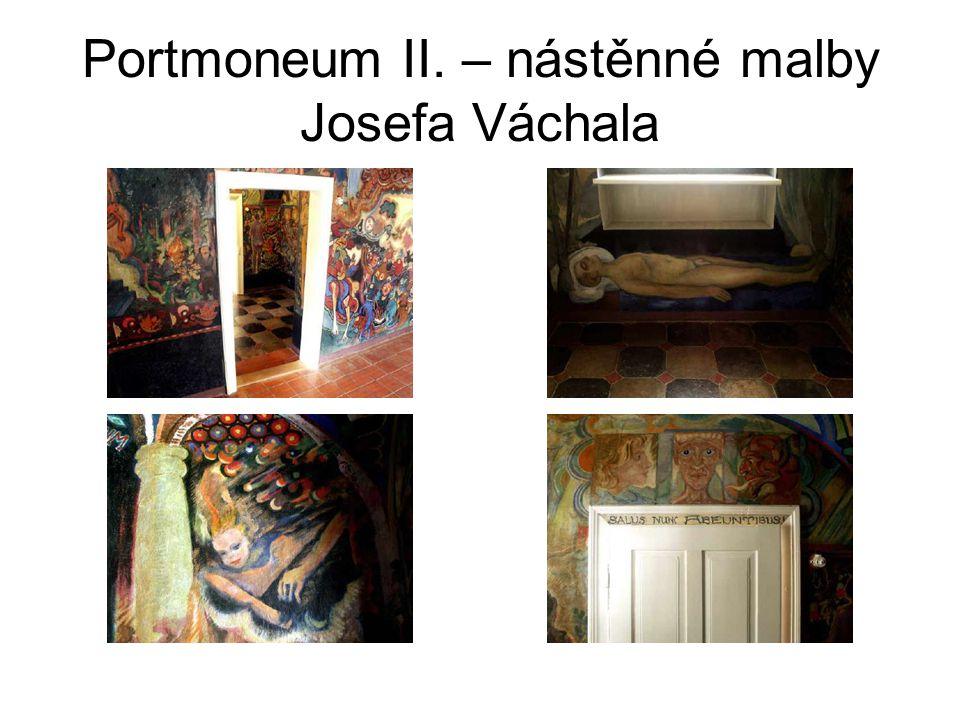 Portmoneum II. – nástěnné malby Josefa Váchala