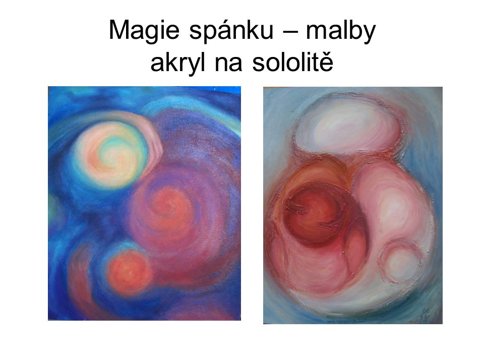 Magie spánku – malba na plátně 100 x 100 cm