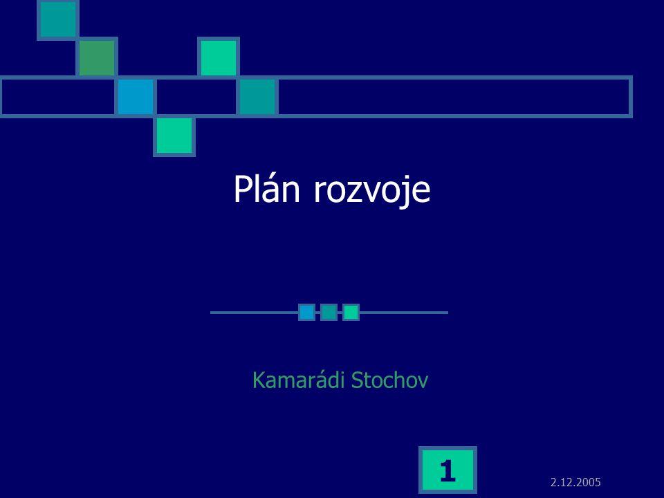 2.12.2005 1 Plán rozvoje Kamarádi Stochov