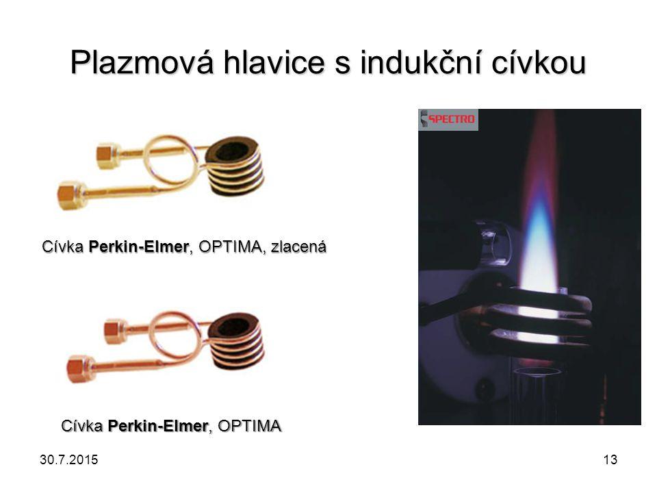 Plazmová hlavice s indukční cívkou Cívka Perkin-Elmer, OPTIMA, zlacená Cívka Perkin-Elmer, OPTIMA 30.7.201513