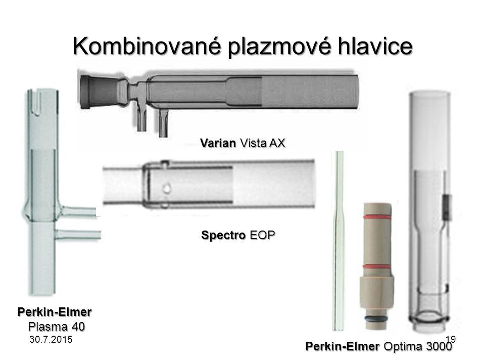 Kombinované plazmové hlavice Perkin-Elmer Plasma 40 Spectro EOP Varian Vista AX Perkin-Elmer Optima 3000 30.7.201519