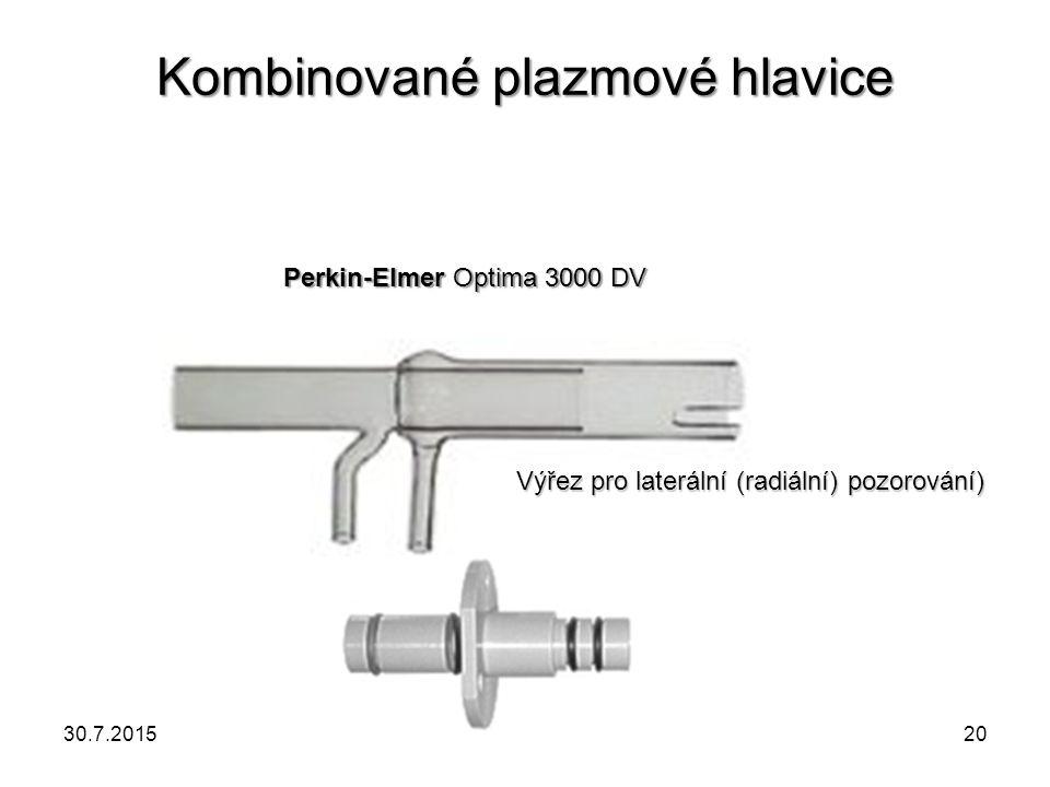 Kombinované plazmové hlavice Perkin-Elmer Optima 3000 DV Výřez pro laterální (radiální) pozorování) 30.7.201520