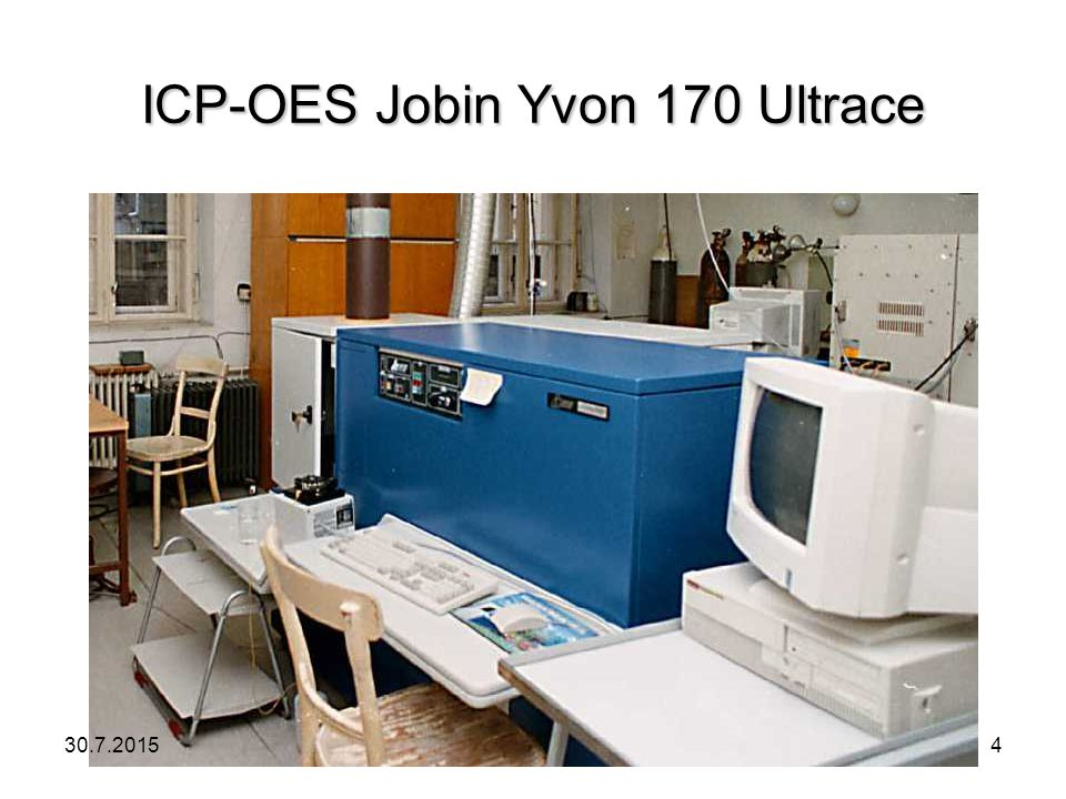 ICP-OES Jobin Yvon 170 Ultrace 30.7.20154