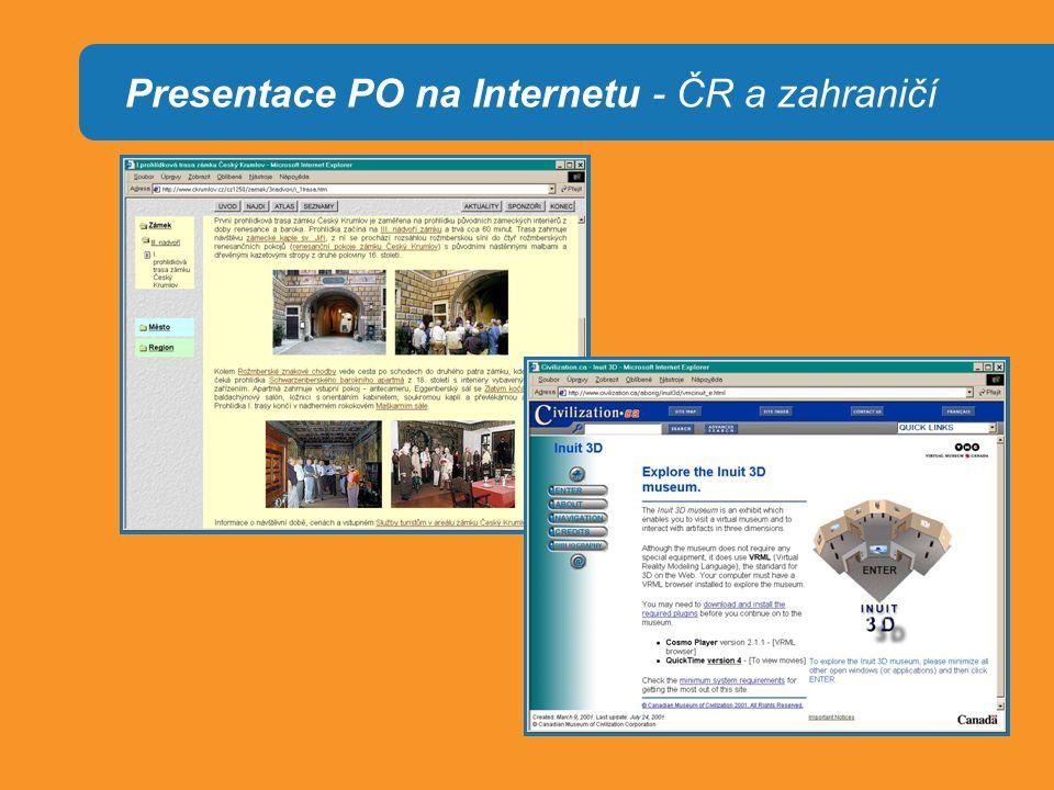 Presentace PO na Internetu - ČR a zahraničí