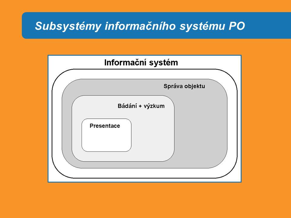 Subsystémy informačního systému PO