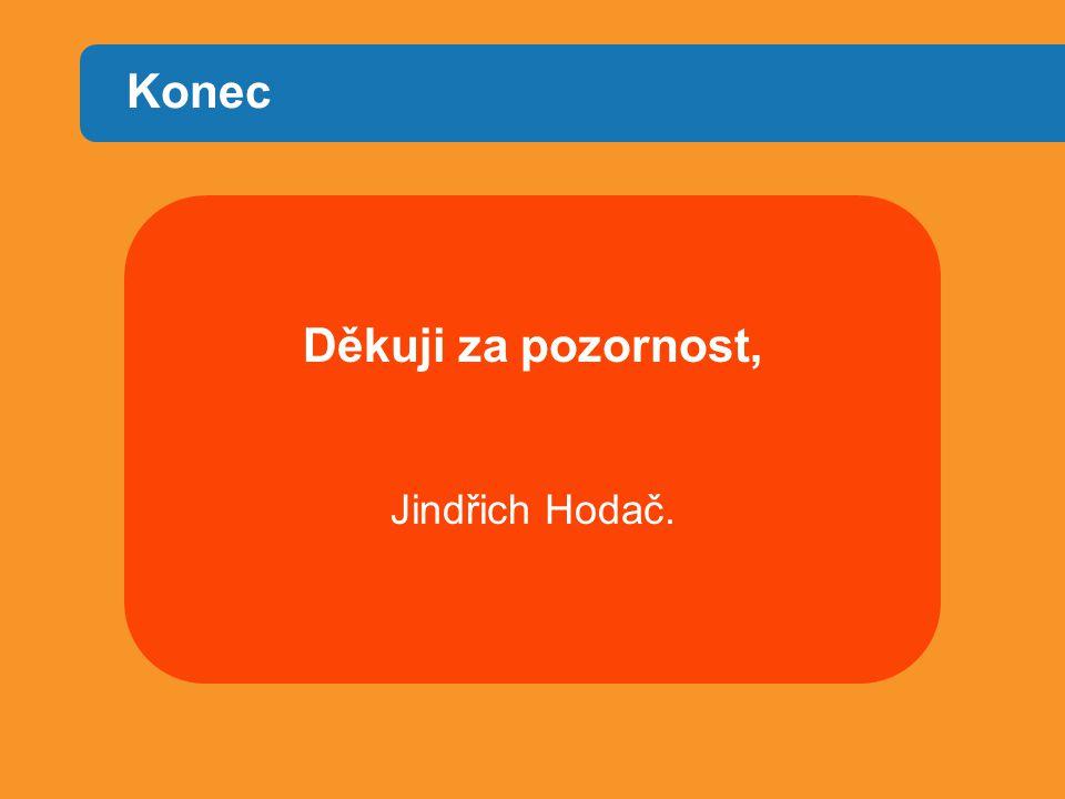 Konec Děkuji za pozornost, Jindřich Hodač.