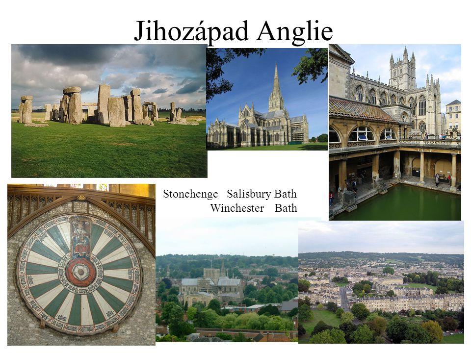 Anglická města OxfordCambridge WindsorStratford-upon-Avon