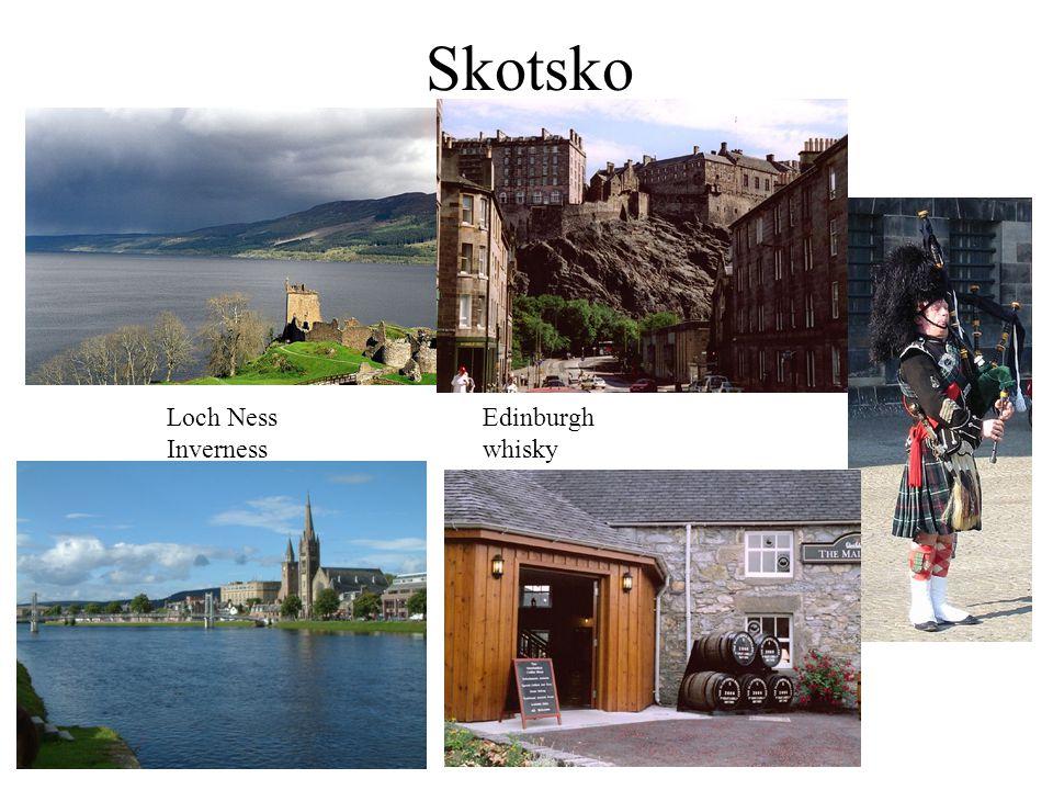 Skotsko Loch NessEdinburgh Invernesswhisky