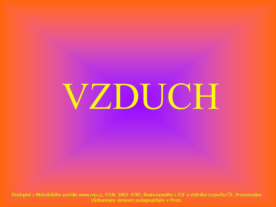 VZDUCH Dostupné z Metodického portálu www.rvp.cz, ISSN: 1802–4785, financovaného z ESF a státního rozpočtu ČR. Provozováno Výzkumným ústavem pedagogic