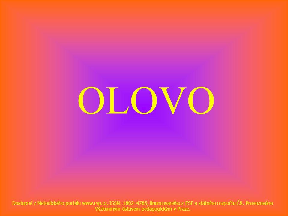 OLOVO Dostupné z Metodického portálu www.rvp.cz, ISSN: 1802–4785, financovaného z ESF a státního rozpočtu ČR. Provozováno Výzkumným ústavem pedagogick