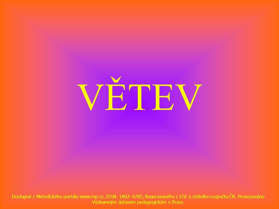 VĚTEV Dostupné z Metodického portálu www.rvp.cz, ISSN: 1802–4785, financovaného z ESF a státního rozpočtu ČR. Provozováno Výzkumným ústavem pedagogick