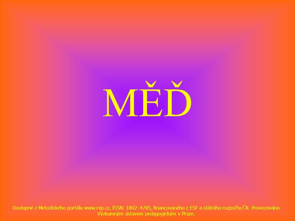 MĚĎ Dostupné z Metodického portálu www.rvp.cz, ISSN: 1802–4785, financovaného z ESF a státního rozpočtu ČR. Provozováno Výzkumným ústavem pedagogickým