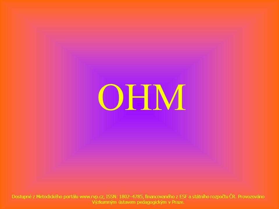 OHM Dostupné z Metodického portálu www.rvp.cz, ISSN: 1802–4785, financovaného z ESF a státního rozpočtu ČR. Provozováno Výzkumným ústavem pedagogickým